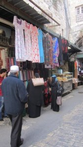 Old City market stalls.