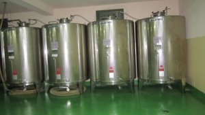 Canaan large storage vats that hold the oil